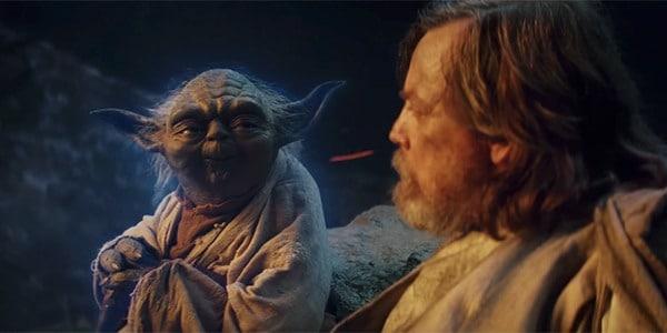 Star Wars: Le dernier Jedi. Scène de Yoda avec Luke Skywalker
